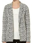 Ex Dorothy Perkins Ivory Grey Black Floral Blazer Coat Jacket